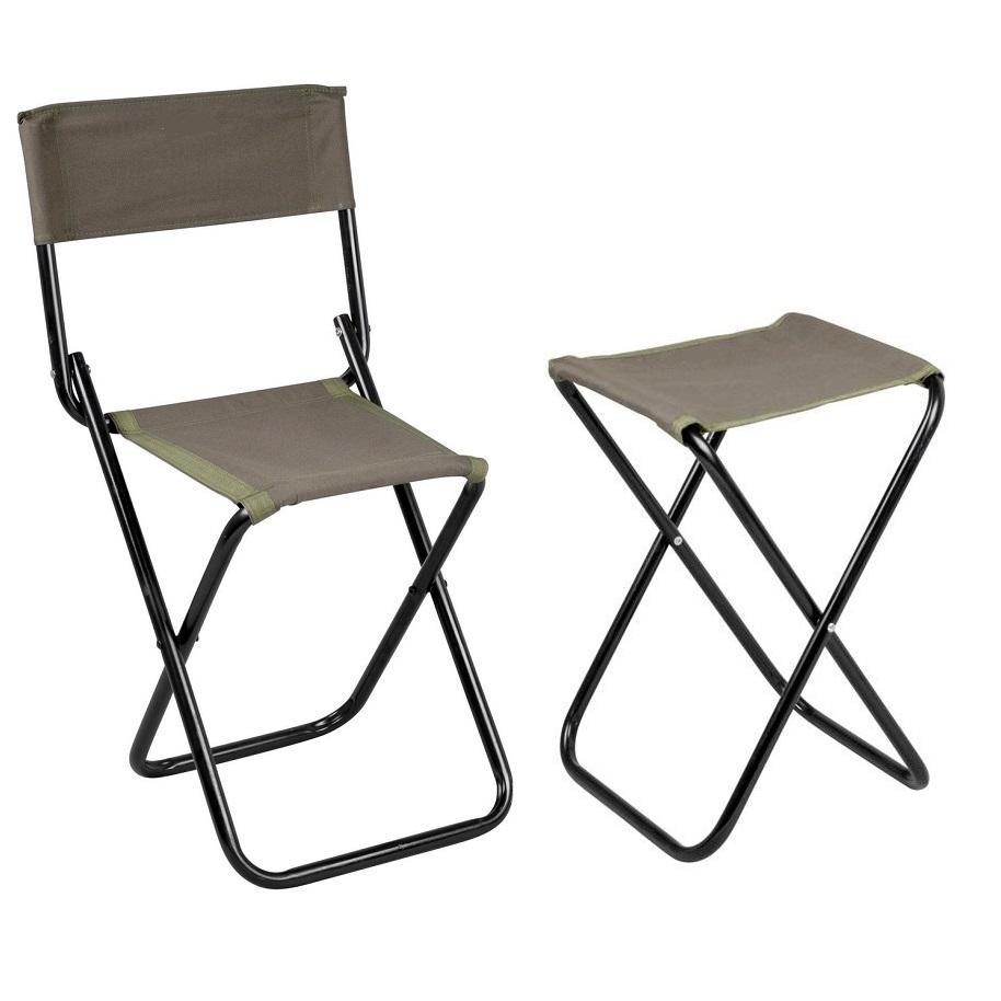 Viskrukjes en stoelen
