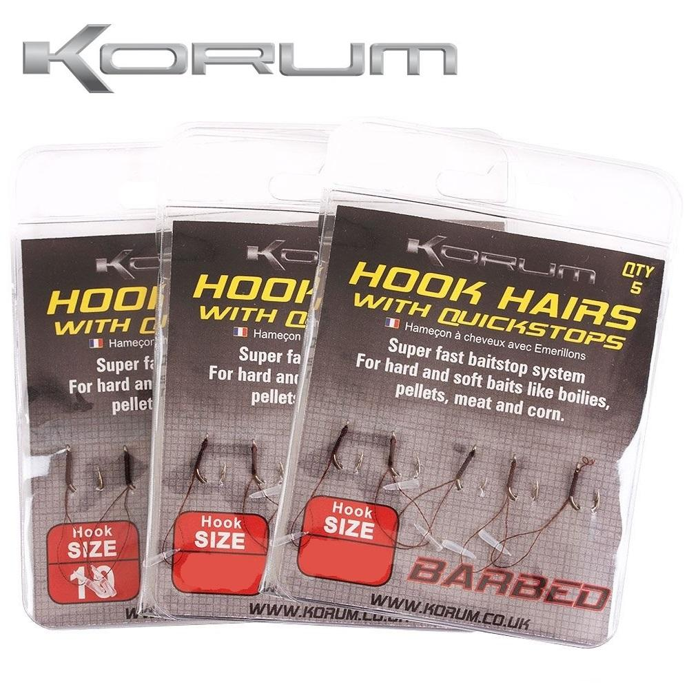 Korum Hook Hairs With Quickstops