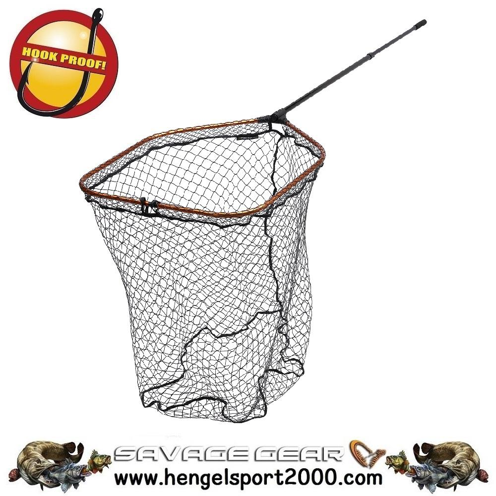 Savage Gear Competition Pro Landing Net Tele Handle X-Large Mesh L (65x50)