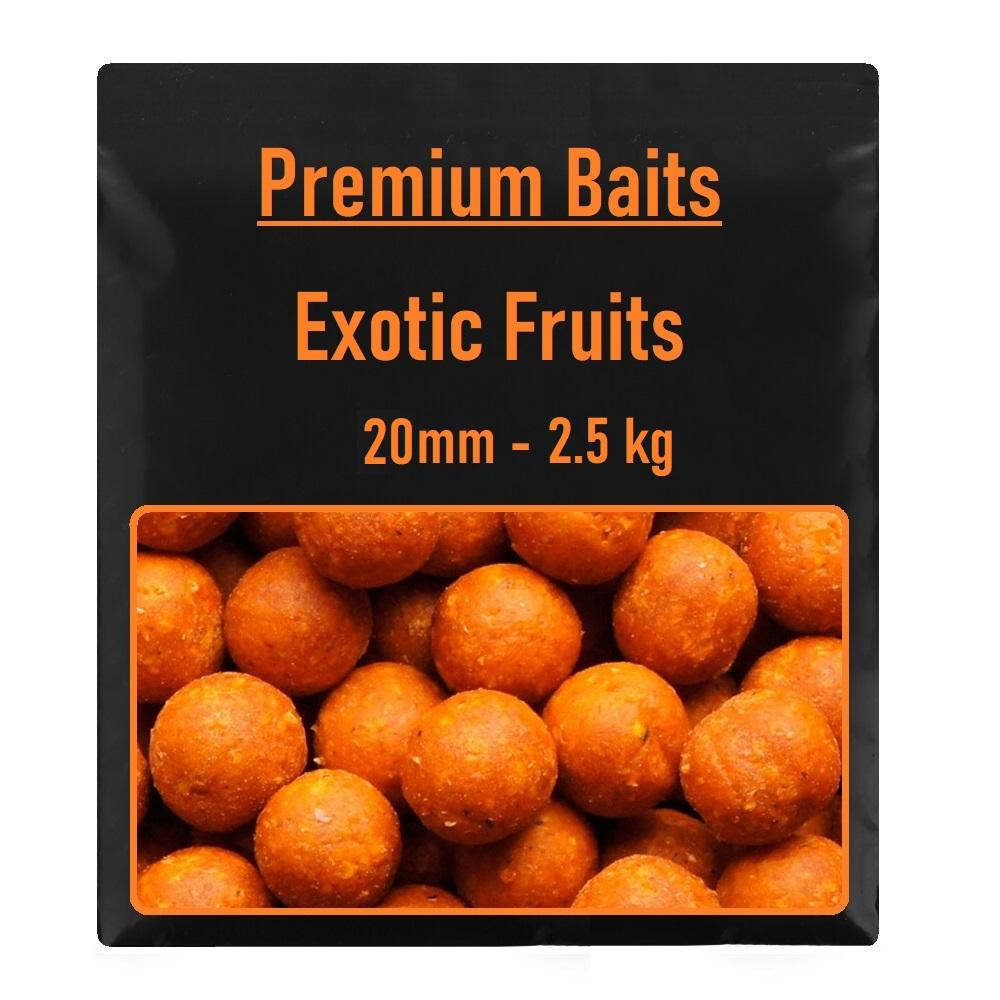 Premium Exotic Fruits Boilies 20mm 2,5kg