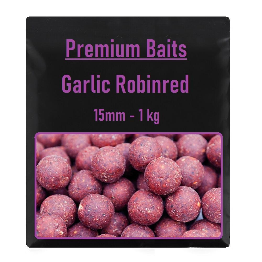 Premium Garlic Robinred Boilies 15mm 1 kg