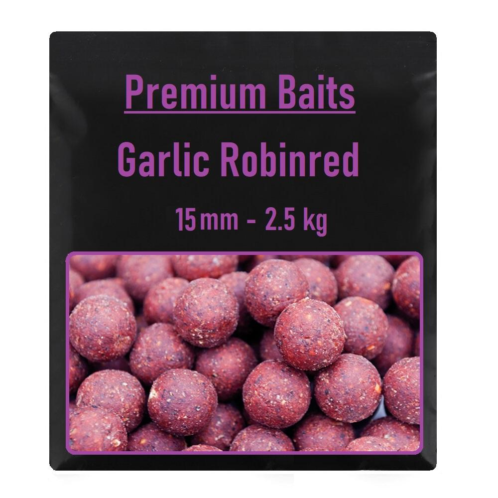 Premium Garlic Robinred Boilies 15mm 2,5 kg