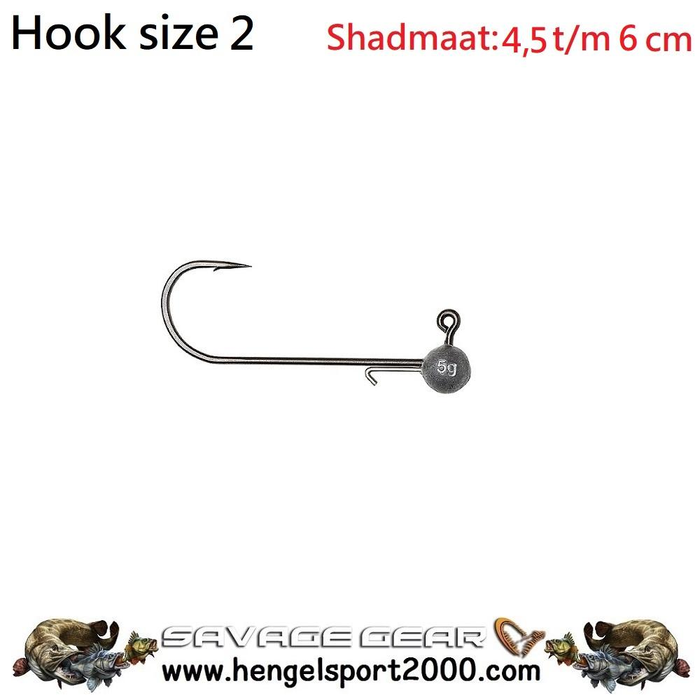 Savage Gear Ball Jig Heads Tournament hook 2 (3 stuks)
