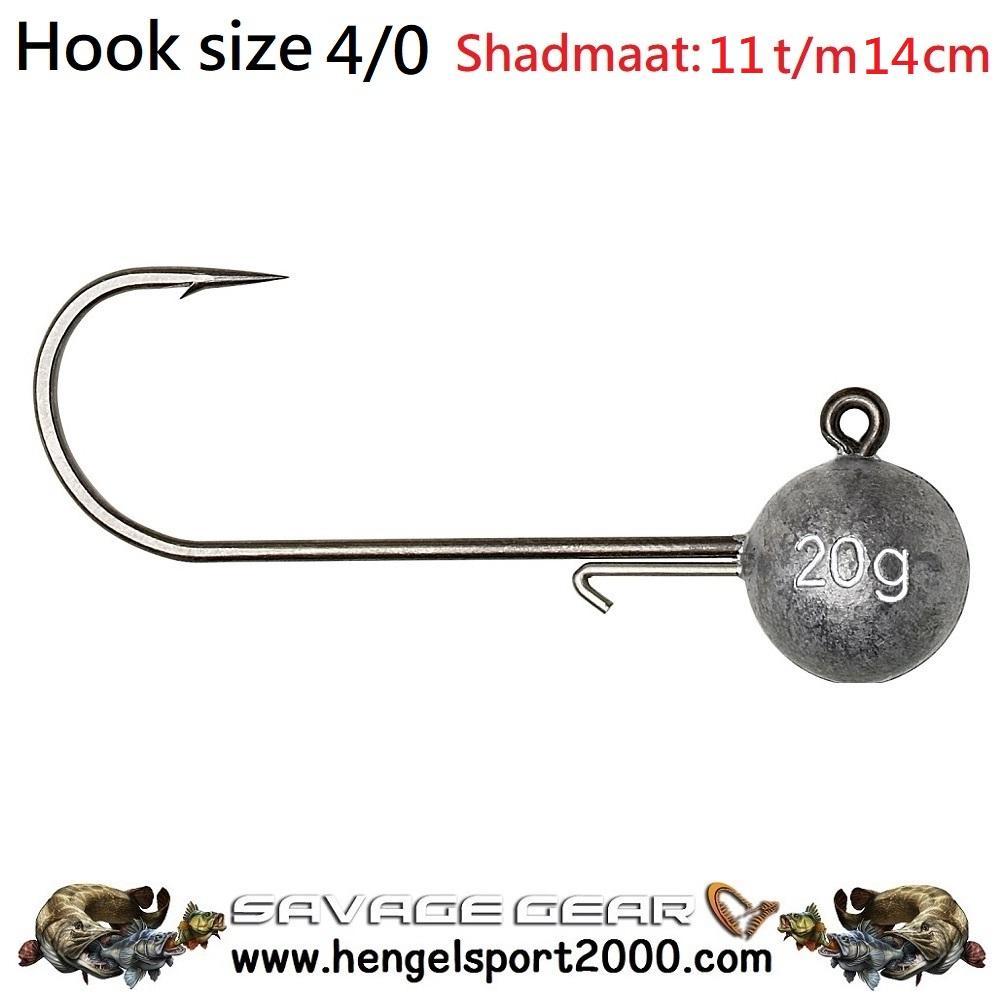 Savage Gear Ball Jig Heads Tournament hook 4-0 (3 stuks)