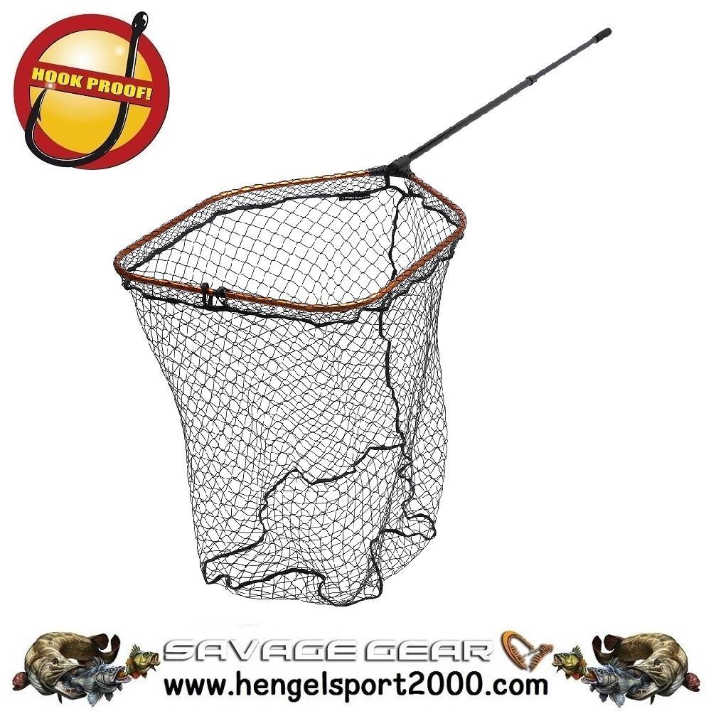 Savage Gear Pro Tele Folding Net Rubber X-Large Mesh XL (70x85)