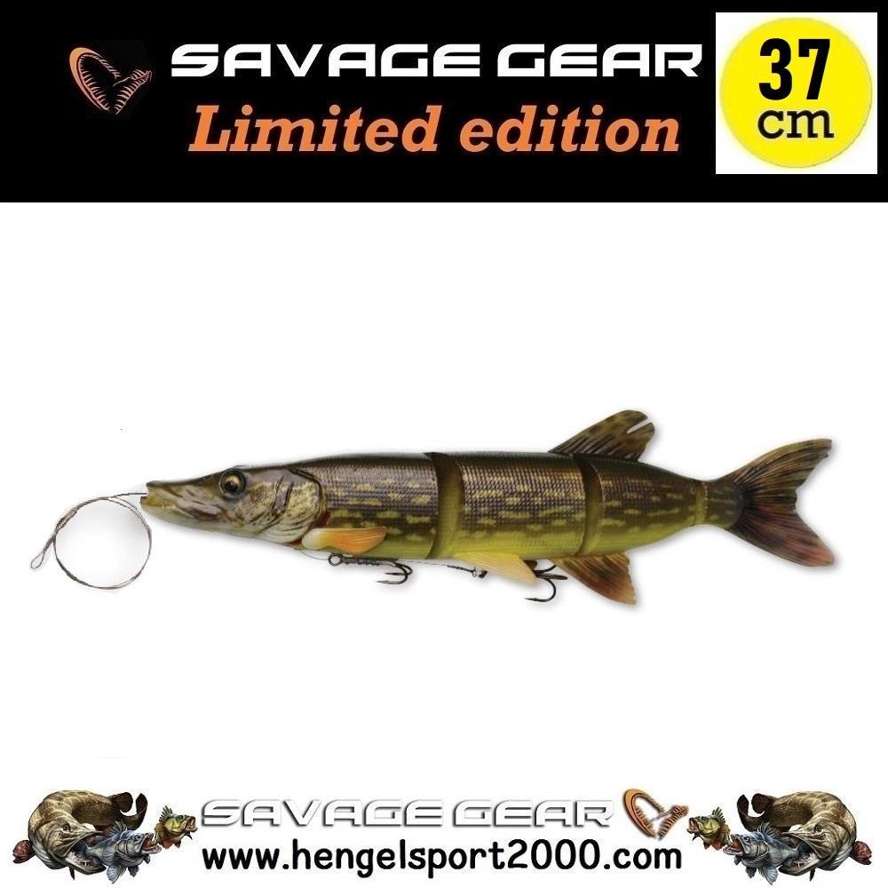 Savage Gear 4D Line Thru Pike 37 cm | Dotted Pike