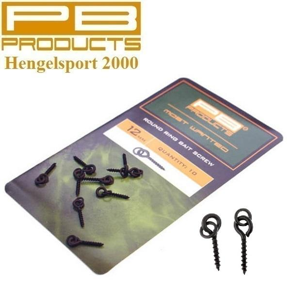 PB Products Round Ring Bait Screw 12mm 10pcs