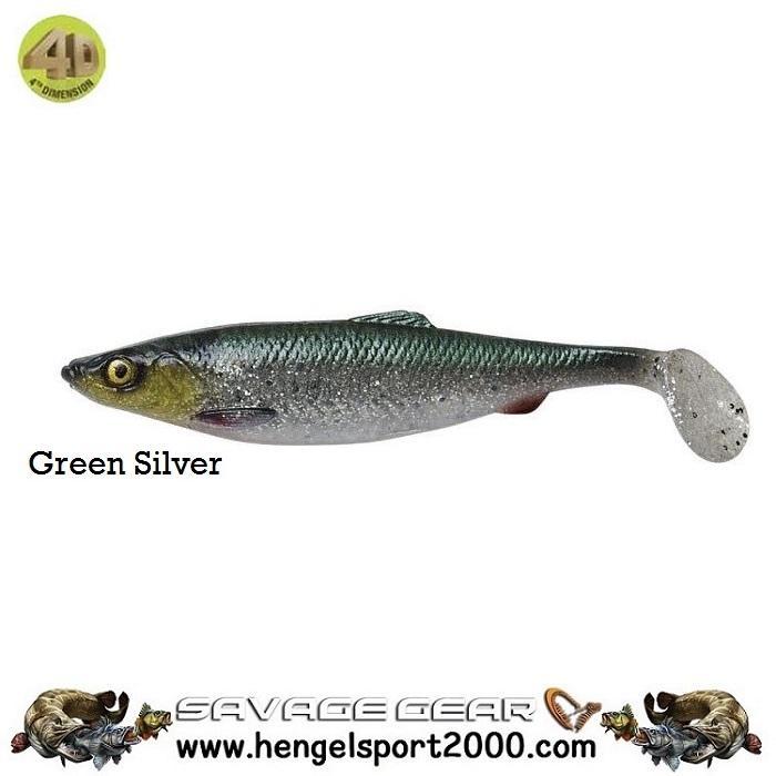 Savage Gear 4D Herring Shad 25 cm | Green Silver