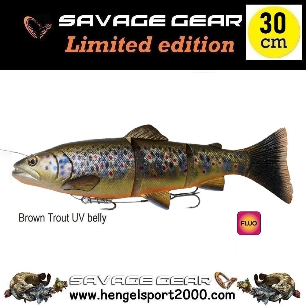 Savage Gear 4D Line Thru Trout 30 cm   Brown Trout UV Belly