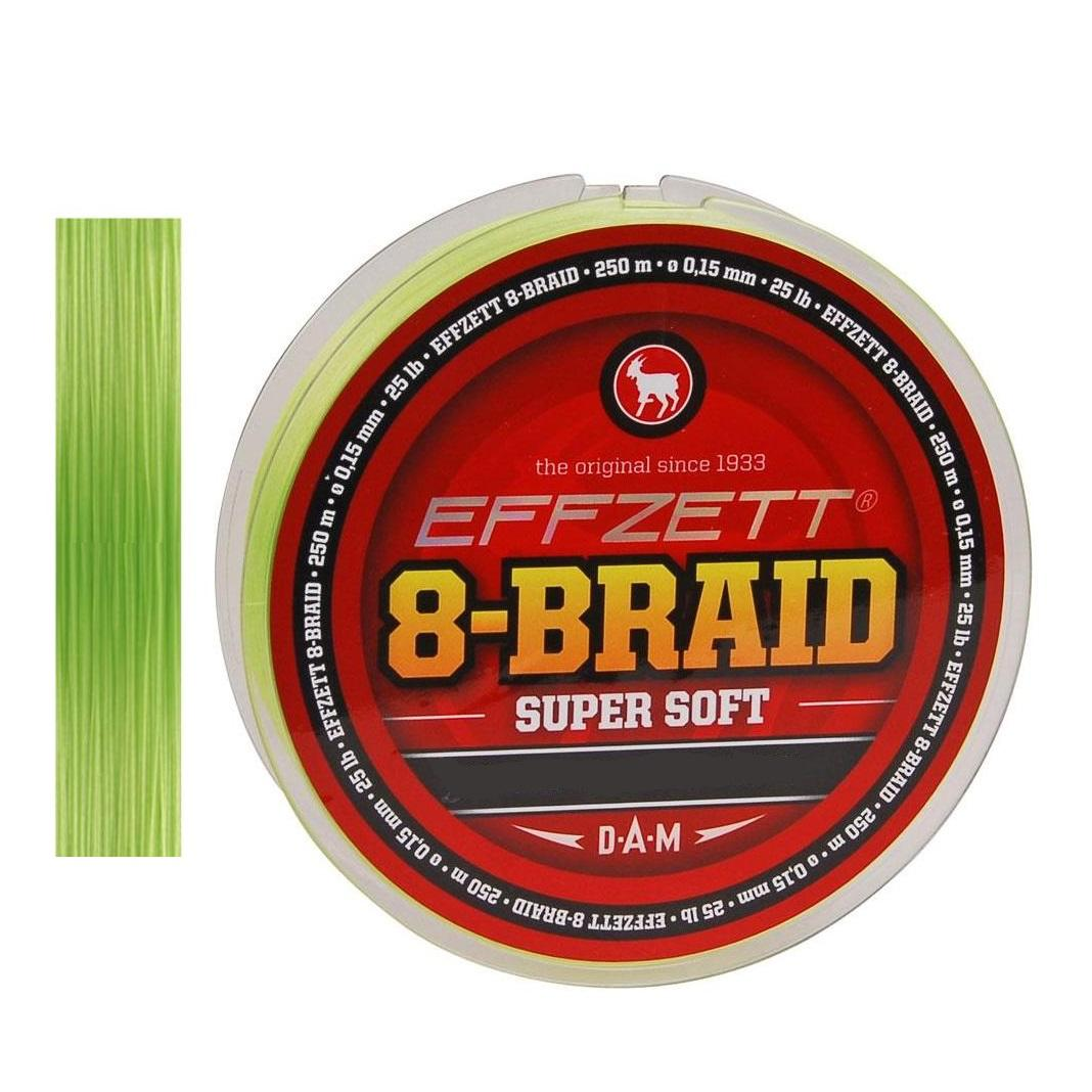 Effzett 8 Braid Super Soft Lemon green 0.20 mm