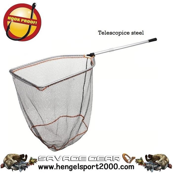 Savage Gear Tele Folding Rubber Landings Net L