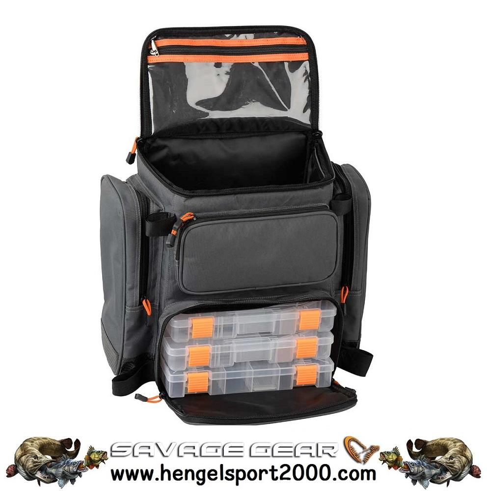 Savage Gear Specialist Rucksack M 3 Boxen